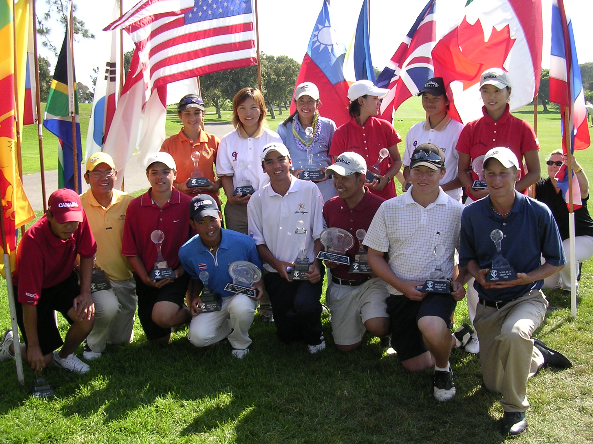 Callaway Junior World Trophy Winners